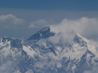 Vue d'avion Ktmandu Lhassa, L'Everest